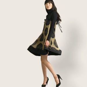 Diane Von Furstenberg Mantilla Silk Chiffon Dress
